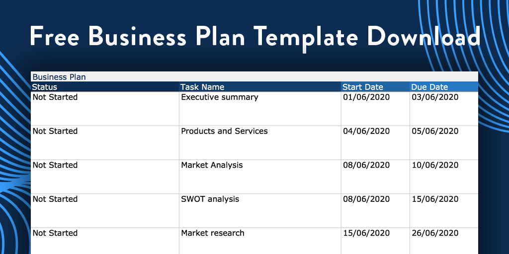 Free Business Plan Template for Excel