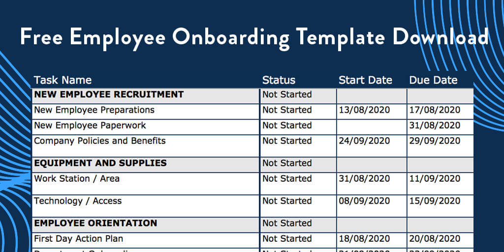 Free Employee Onboarding Template Download
